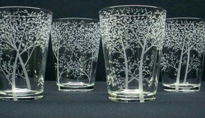 how to make etched glass stand out